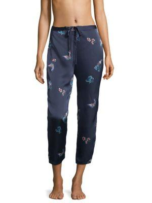 Natori Floral And Butterfly Print Pajama Pants