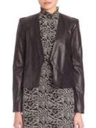 Set Leather Cropped Jacket
