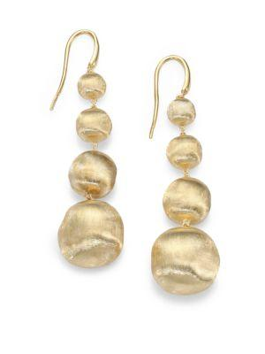 Marco Bicego Africa 18k Yellow Gold Graduated Ball Drop Earrings
