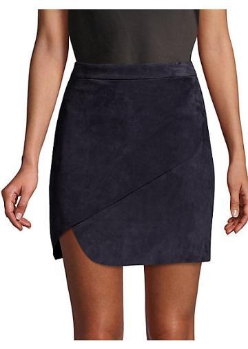Alice + Olivia Dasia Suede Wrap Skirt