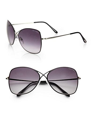 Tom Ford Eyewear Colette Rimless Aviator Sunglasses