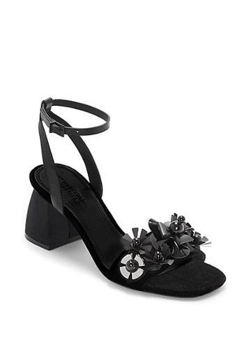Mercedes Castillo Tawney Floral Sequin Sandals