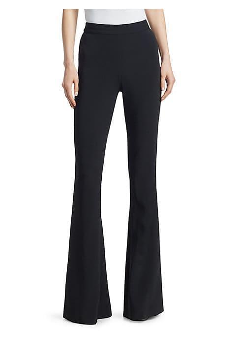 Brandon Maxwell Tuxedo Flare Trousers