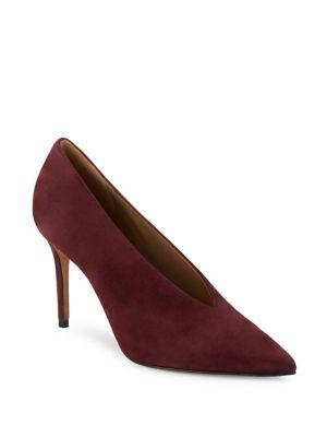 Vince Portia Suede Point Toe Pumps