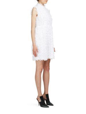 Givenchy Sleeveless Ruffled Lace Dress