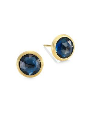 Marco Bicego Jaipur London Blue Topaz Stud Earrings