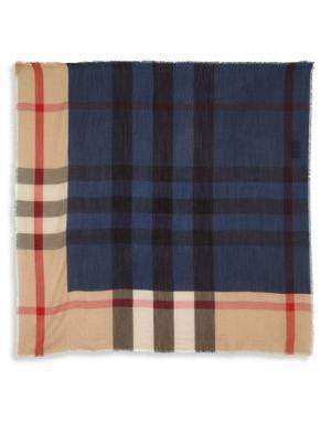 Burberry Checkered Cashmere Scarf