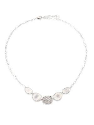 Marco Bicego Lunaria Diamond & 18k White Gold Graduated Necklace