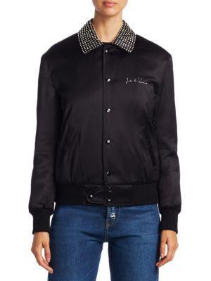 Saint Laurent Embellished Satin Jacket