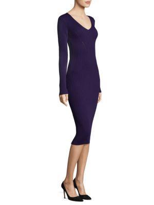 Michael Michael Kors V-neck Rib Sweater Dress