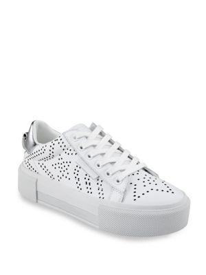 Kendall + Kylie Tyler Star Perforated Leather Sneakers