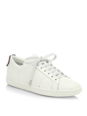 Saint Laurent Court Classic Lip Snakeskin & Leather Sneakers