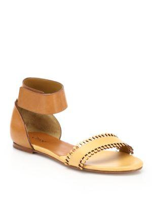 Chlo Flat Scalloped Sandals