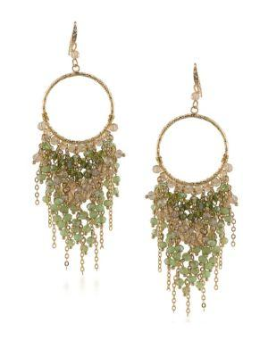 Abs By Allen Schwartz Jewelry Vibrant Vibes Beaded Chandelier Earrings