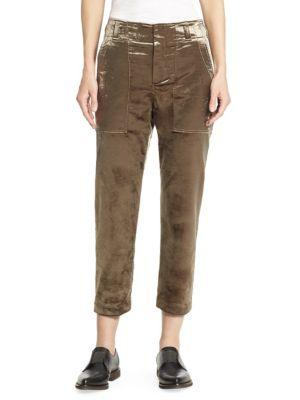 Brunello Cucinelli Cropped Velvet Pants