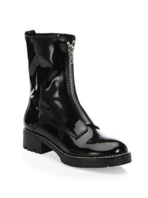 Alice + Olivia Dustin Patent Leather Booties