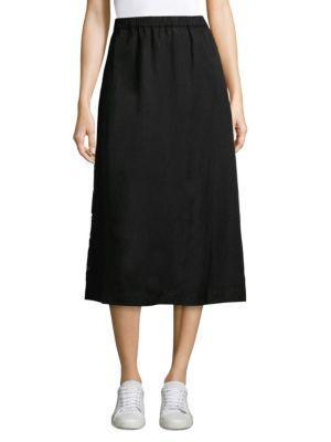 Eileen Fisher Side Snap Midi Skirt