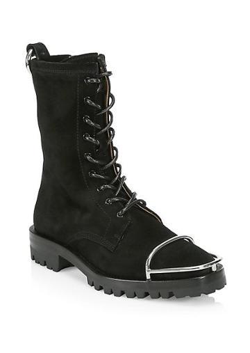 Alexander Wang Kennah Toe Guard Suede Boots