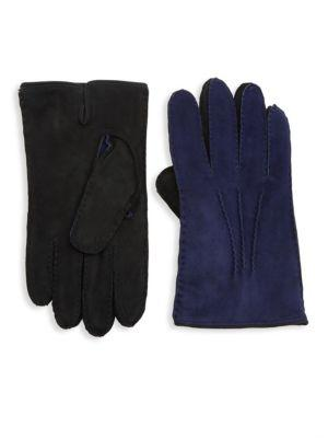 Saks Fifth Avenue Collection Two-tone Leather Gloves
