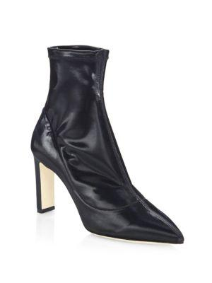 Jimmy Choo Louella 85 Patent Leather Point Toe Booties