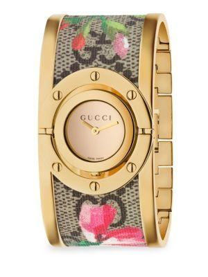 Gucci Twirl Blooms Bangle Watch