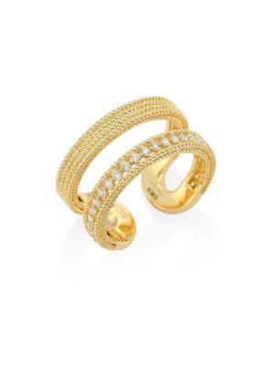 Roberto Coin Double Symphony Diamond & 18k Yellow Gold Ring