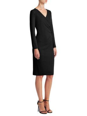 Emporio Armani V-neck Crossover Dress