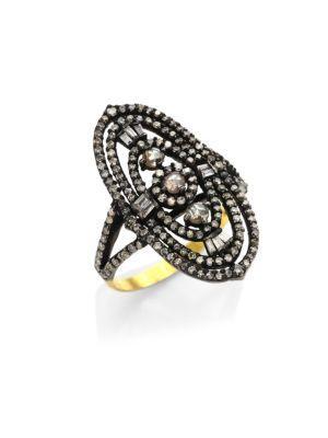 Bavna Diamond Cocktail Ring
