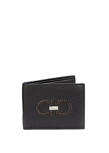 Salvatore Ferragamo Firenze Logo Intreccio Leather Bifold Wallet