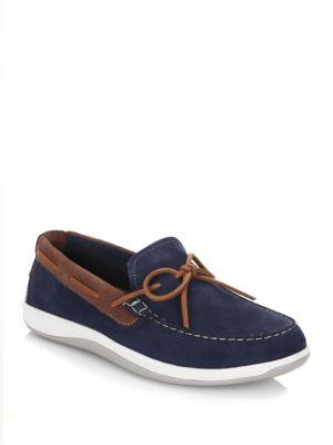 Cole Haan Boothbay Camp Nubuck Leather Moccasins