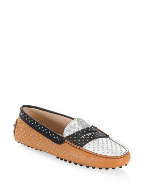 Tod's Gommini Micro Leather-stud Driving Loafers