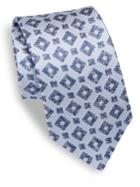 Isaia Geometrical Patterned Silk Tie