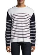 Burberry Colorblock Striped Pullover
