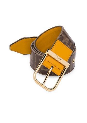 Fendi Ff Vetrificato Logo Belt