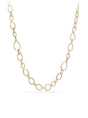 David Yurman Continuance Medium Chain Necklace In 18k Gold/32