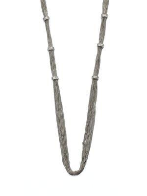 Abs By Allen Schwartz Jewelry Pave Rondelle Link Chain Necklace