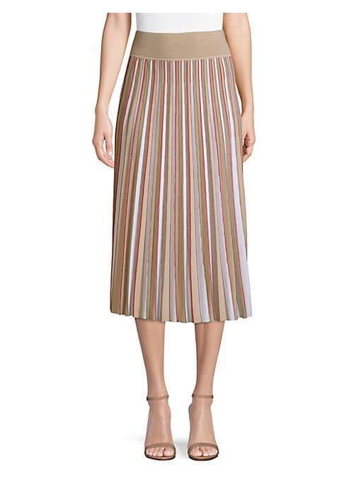 Agnona Merino Wool Pleated Skirt