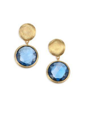 Marco Bicego Jaipur London Blue Topaz And 18k Gold Earrings
