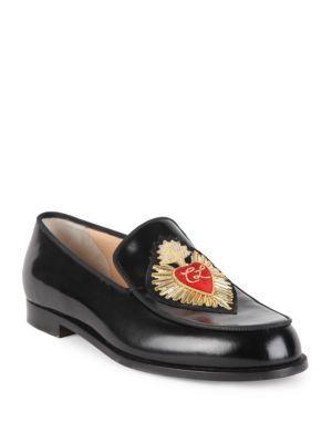 Christian Louboutin Perou Corazon Leather Loafers
