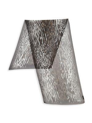 St. John Leopard Printed Silk Scarf