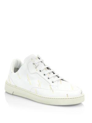 Balenciaga Logo Leather Lace-up Trainer Sneakers