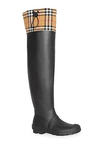 Burberry Freddie Rubber Rain Boots