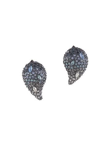 Alexis Bittar Swarovski Ombre Crystal Paisley Stud Earrings