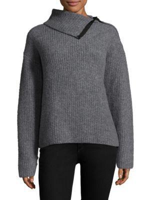 Rag & Bone Boucle Rib-knit Lyza Turtleneck