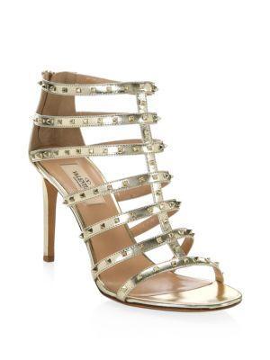 Valentino Garavani Lovestud Metallic Leather Gladiator Sandals