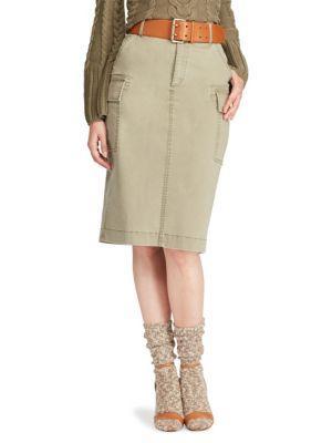 Polo Ralph Lauren Cotton Cargo Skirt
