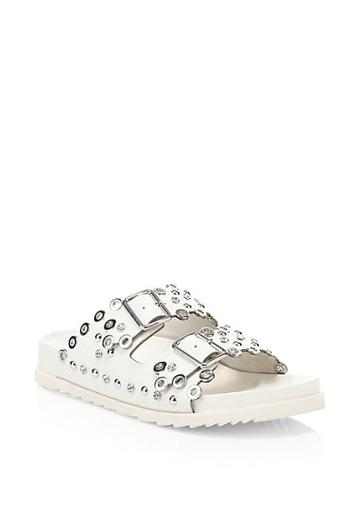 Ash Universe Embellished Leather Sandals