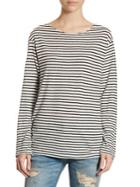 R13 Striped Long Sleeve Boatneck Tee