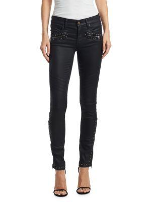 Polo Ralph Lauren Studded Coated Skinny Jeans