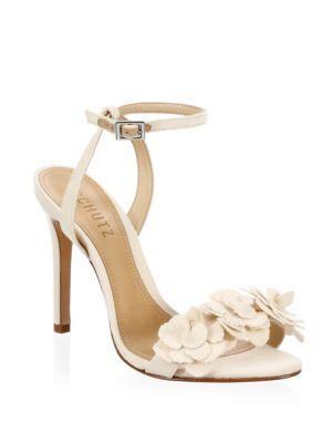 Schutz Aida Cotton Ankle-strap Pumps